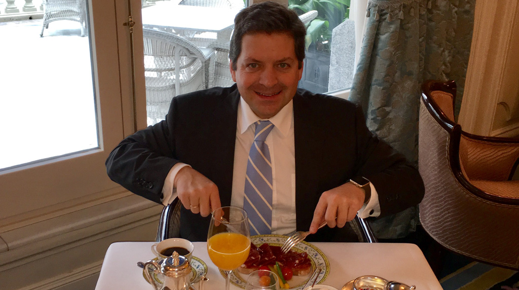 Breakfast with Christian Tavelli, Hotel Ritz, Madrid