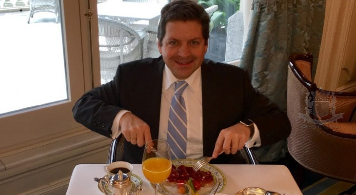 Breakfast with Christian Tavelli, Hotel Ritz, Madrid