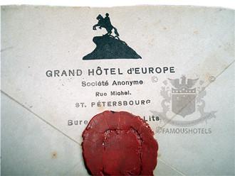 1912 - LETTER: Grand Hotel Europe