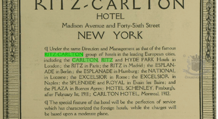 Ritz-Carlton: The Beginning