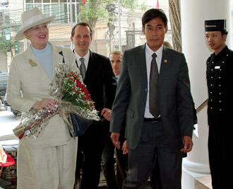 queen of denmark at hotel metroploe hanoi - by famoushotels