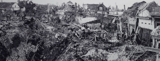 street hanois after bombardement