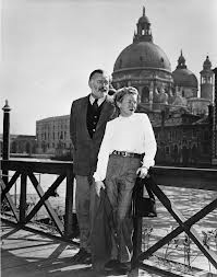 hemingway and mary near the gritti palace in venice
