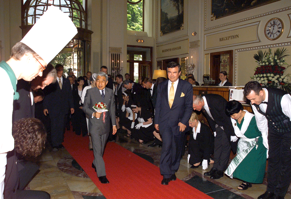 japanese emperror, vienna hotel imperial, hirohito